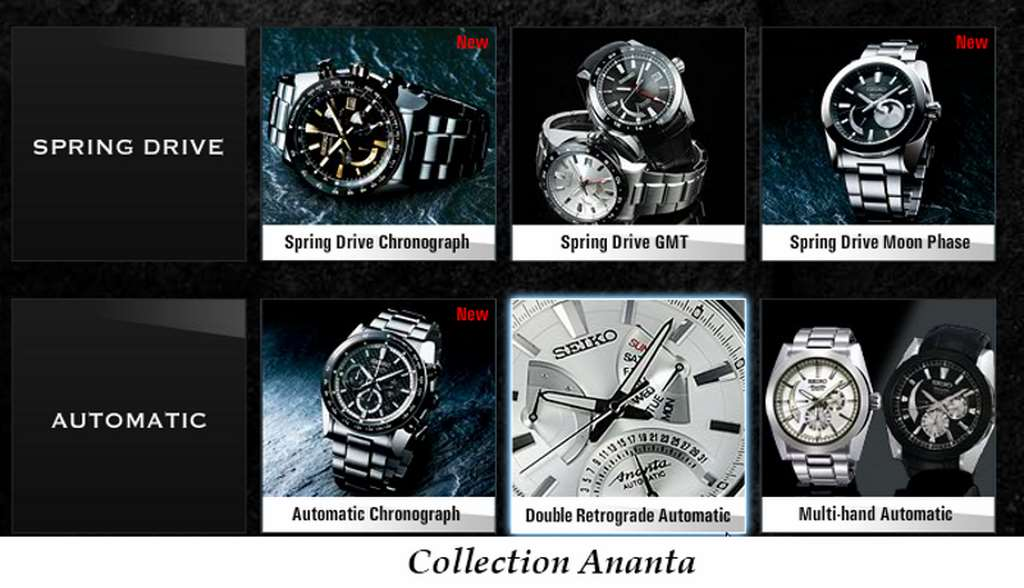Collection Seiko Ananta